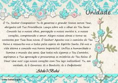 Oração Bahá'í - Unidade - www.bahai.org.br
