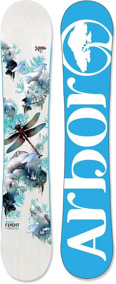 Big-mountain women riders will love the feel of the Arbor Flight snowboard. The Flight has an exclusive design and is only offered at REI.