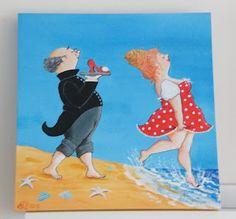 Een streepje zonlicht: Gehaakte tassen en schilderijen Plus Size Art, Funny Paintings, Fat Art, Quirky Art, Easy Canvas Painting, Wonderful Picture, Woman Drawing, Naive Art, Funny Cards