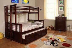 A.M.B. Furniture & Design :: Childrens Furniture :: Kids bed sets :: Espresso Wood Finish Chest with 5 - Drawers.