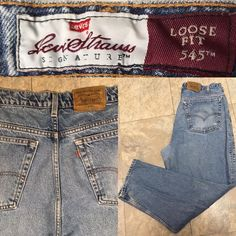 Levi's Loose Fit 545 Jeans Naturally Distressed Size 38 30  | eBay
