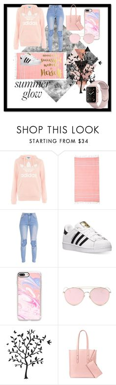 """""""Peachy clean outfit! **UPDATED**"""" by athena-wonder on Polyvore featuring Topshop, adidas, Casetify, LMNT, Godinger and Aspinal of London"""