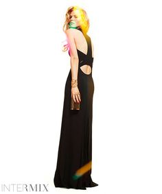 Robert Rodriguez Racerback Cut Out Gown with Chiffon