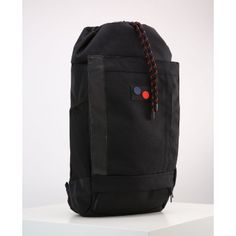pinqponq - Large Licorice Black Bold Blok Backpack Bag - Black