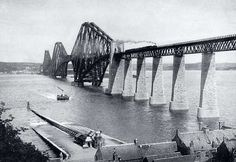 from the early-1900s - The Forth Rail Bridge and Queensferry Ferry