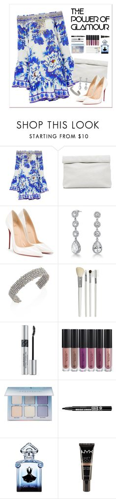 """""""Untitled #201"""" by starshineb ❤ liked on Polyvore featuring Camilla, Marie Turnor, Christian Louboutin, Bling Jewelry, Alexis Bittar, Cath Kidston, Christian Dior, Anastasia Beverly Hills, Bourjois and Guerlain"""