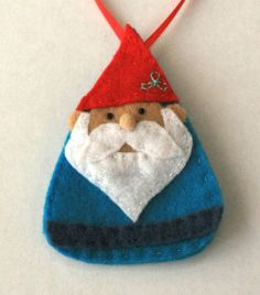 Bram the Gnome Felt Ornament by RooseveltKid on Etsy, $7.00