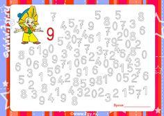 Numbers Preschool, Kindergarten Worksheets, Worksheets For Kids, Math For Kids, Math Classroom, Pre School, Toddler Activities, Teaching Kids, Learning