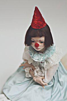 Items similar to JooDella porcelain ooak bjd art doll RESERVED on Etsy Porcelain Dolls Value, Porcelain Dolls For Sale, Fine Porcelain, Porcelain Tiles, Porcelain Countertops, Art Du Cirque, Mime, Pierrot Clown, Origami