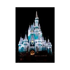 Cinderella's Castle Walt Disney World ❤ liked on Polyvore featuring disney, backgrounds, castle, cinderella and blue