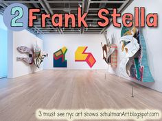 Installation view of Frank Stella: A Retrospective (October © 2015 Frank Stella/Artists Rights Society (ARS), New York. Photograph by Ronald Amstutz Frank Stella, New York City Tourism, New York City Museums, New York Activities, Nyc In December, October, Oct 30, Post Painterly Abstraction, Whitney Museum