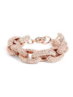 Original Pavé Links Bracelet Bracelet | BaubleBar - my new christmas bracelet to go with my Rose Gold Michael Korrs watch... can't wait!