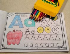 Interactive Morning Work Book: Letter A Freebie
