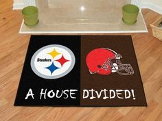 "NFL - Steelers - Browns House Divided Rug 33.75""x42.5"""