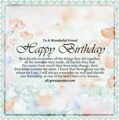Happy Birthday Special Friend Wishes Bestfriend Quotes