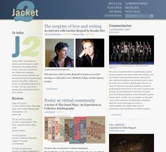 Tonight on the front page of Jacket2 magazine: Sara Wintz, a video of a recent Ray DiPalma reading, Cavafy, Corman's life in Kyoto, Jerome Rothenberg on the move from voice to book, a long review of The Grand Piano, an interview with Caroline Bergvall, and David Buuck on the performative turn. And more. http://jacket2.org