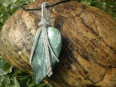Seraphinite pendant in sterling silver green seraphim angel
