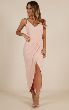 ea336c55cca Lucky Day Maxi Dress In Blush Produced