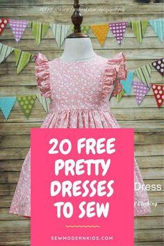 Sewing Patterns Girls, Little Girl Dress Patterns, Girls Dresses Sewing, Baby Girl Dress Patterns, Sewing Kids Clothes, Baby Clothes Patterns, Sewing For Kids, Free Sewing, Kids Patterns