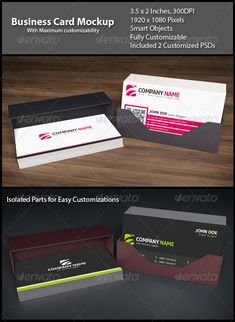 Business Card Mockup — Photoshop PSD #paper #smart objects • Available here → https://graphicriver.net/item/business-card-mockup/7016094?ref=pxcr