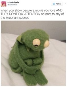 First of all, please look at this tiny, sad Kermit. All fuzzy and forlorn. First of all, please look at this tiny, sad Kermit. All fuzzy and forlorn. Best Memes, Funny Memes, Hilarious, Memes Humor, Ecards Humor, Funny Quotes, Sapo Kermit, Reaction Pictures, Funny Pictures
