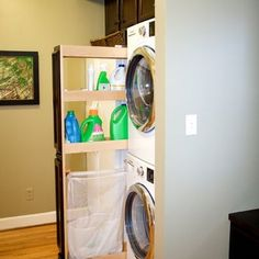 Laundry Closet Design, Pictures, Remodel, Decor and Ideas - pull out organizer