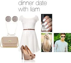 """""""dinner date with liam"""" by adriana-diaz ❤ liked on Polyvore"""