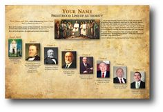 Ways to display LDS Priesthood Line of Authority