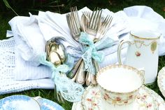 Getting ready for one lucky ladies baby shower. By Chintz 'n' China