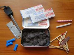 Altoids Fire Starter Kit