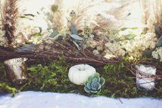 succulents, gourds, wild grasses  centerpieces