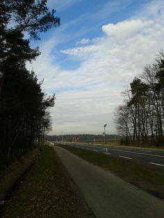 Vlak bij het vliegveld twente onderweg naar Enschede