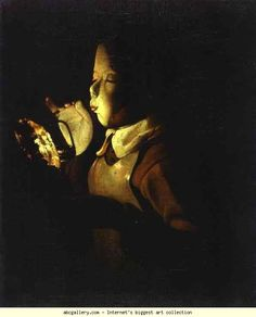 Georges de La Tour. Boy Blowing at Lamp. c.1640. Oil on canvas. Musée des Beaux-Arts, Dijon, France.
