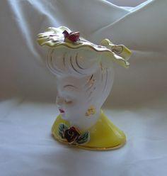 Glamorous Lady Head Vase