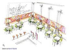 Here's a Look at Karim Rashid's Latest Batch of Sketches Lamp Design, Chair Design, Lighting Design, Diy Design, Design Shop, Damask Wallpaper, Designer Wallpaper, Wallpaper Designs, Karim Rashid