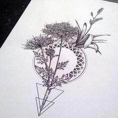 geometric flower tattoo - Google Search                                                                                                                                                                                 More