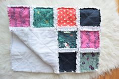 Navy Pink Yellow and White Cat Lady Baby Rag Quilt + Baby Shower Gift + Ready to Ship Navy Pink, Pink Yellow, Baby Rag Quilts, Stroller Blanket, Kona Cotton, Color Pallets, Beautiful Babies, Cat Lady, Baby Shower Gifts