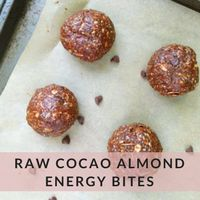 These Almond Cocao Energy Bites are the perfect portable snack! Full of fiber and protein, energy bites are delicious, healthy, and easy to make!