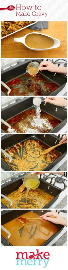 Betty's Foolproof Turkey Gravy lives up to its name. Best of all, you'll already have most of what you need on hand since you'll have just roasted your turkey. To avoid lumps or grease, make sure to measure the drippings and flour accurately. Click through for the step-by-step instructions and photos!