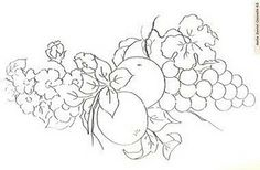 Fruit and vegetables embroidery patterns