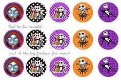 Nightmare Before Christmas bottlecap images (FREE)