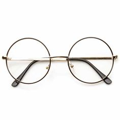 • Description • Measurements • Mid sized round circular glasses that features a full metal frame and clear lenses. These round glasses are perfect