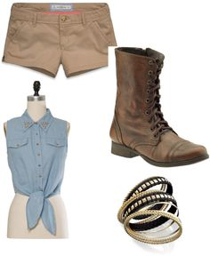 """cow-girl style"" by ashlyndancer ❤ liked on Polyvore"