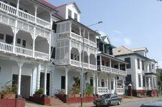 Centro histórico de Paramaribo  Surinam.
