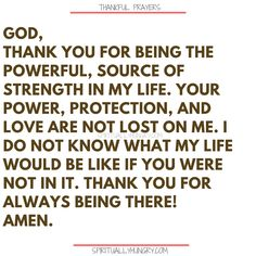 Here's a great batch of 30 thankful prayers for you. We are given so much, often times we focus on what we don't have or what we want, instead of being thankful for all that we have. These 30 short prayers will help you foster a thankful heart. Thankful Prayers, Prayers Of Gratitude, Short Prayers, Good Prayers, Thankful Heart, Bible Prayers, Catholic Prayers, Bible Scriptures, Thanksgiving Prayers For Family