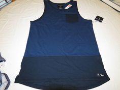 Men's Modern Amusement pocket tank top shirt medium M mesh vented blue navy NEW  #ModernAmusement #tanktopshirt