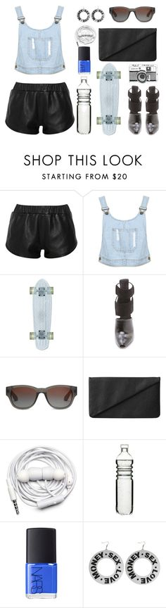 """Denim Cropped Dungaree Top"" by thestyleartisan ❤ liked on Polyvore featuring moda, Kelly Bergin, Alexander Wang, TOMS, Monki, Urbanears, Sagaform, NARS Cosmetics i denim"