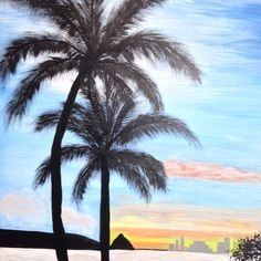 Palmeras!!! Painting by Helen