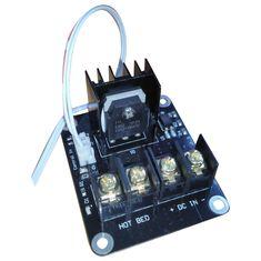 3D Printer broeinest MOSFET uitbreidingsmodule inc 2pin lood Anet A8 A6 A2 Compatibel Zwart