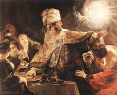 Rembrandt based this painting off of the story of Belshazzar as well as the writing on the wall in Book of Daniel in the Old Testament. Although Amsterdam was part of the Holy Roman Empire at the time, it also had a large Jewish population, and so this is a story of which many of Rembrant's contemporaries would have been familiar. The artist's intention at the time was to create a portrait of a religious story to which the public, who were largely illiterate, could refer. Rembrandt produced…